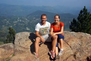 At the top of Ella Rock