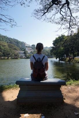 Soph at Kandy Lake