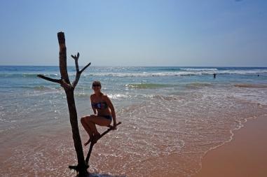 Soph on Hikkiduwa Beach