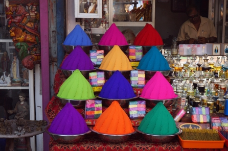 One of the colourful stalls in Fort Kochi