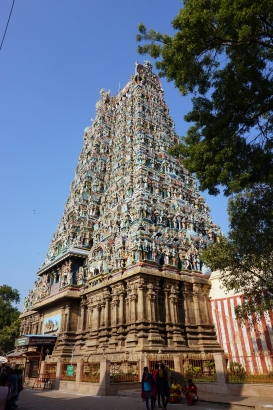 Another of the Sri Meenakshi Temple's many towers