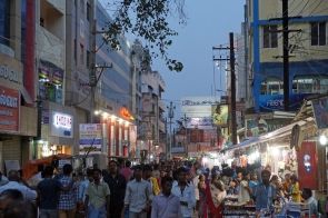 The streets got busier during the evenings