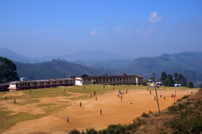 Walking up through Munnar village, we came across this school playing field with an amazing backdrop