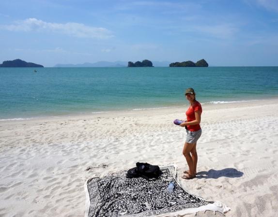Our spot on Tanjung Rhu beach