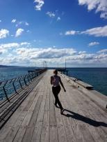 Soph enjoying Lorne pier