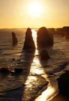 the Twelve Apostles in all their sunset glory