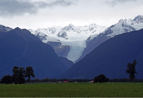 A view of Fox Glacier