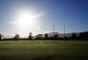 2 things i love! The Sun and Rugby!